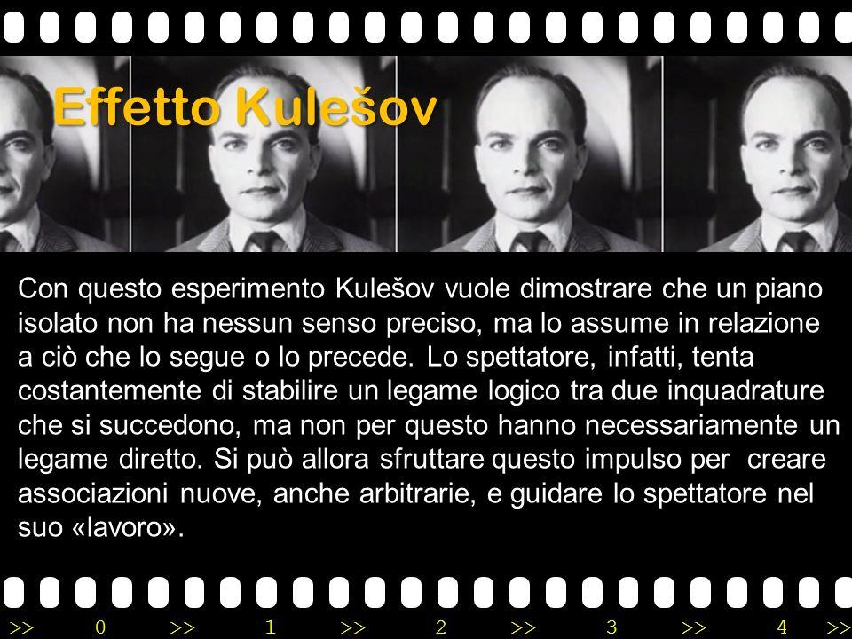 >>0 >>1 >> 2 >> 3 >> 4 >> Effetto Kulešov Con questo esperimento Kulešov vuole dimostrare che un piano isolato non ha nessun senso preciso, ma lo assu