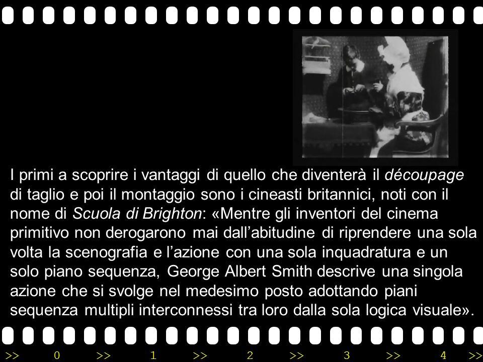 >>0 >>1 >> 2 >> 3 >> 4 >> George Albert Smith Realizzato da George Albert Smith nel 1900, il film Les Lunettes de lecture de Mamie, o La Loupe de grand maman (in italiano Le lenti della nonna) è una di quelle opere che influenzeranno il cinema a venire.