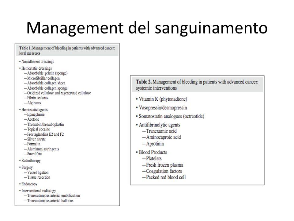 Management del sanguinamento