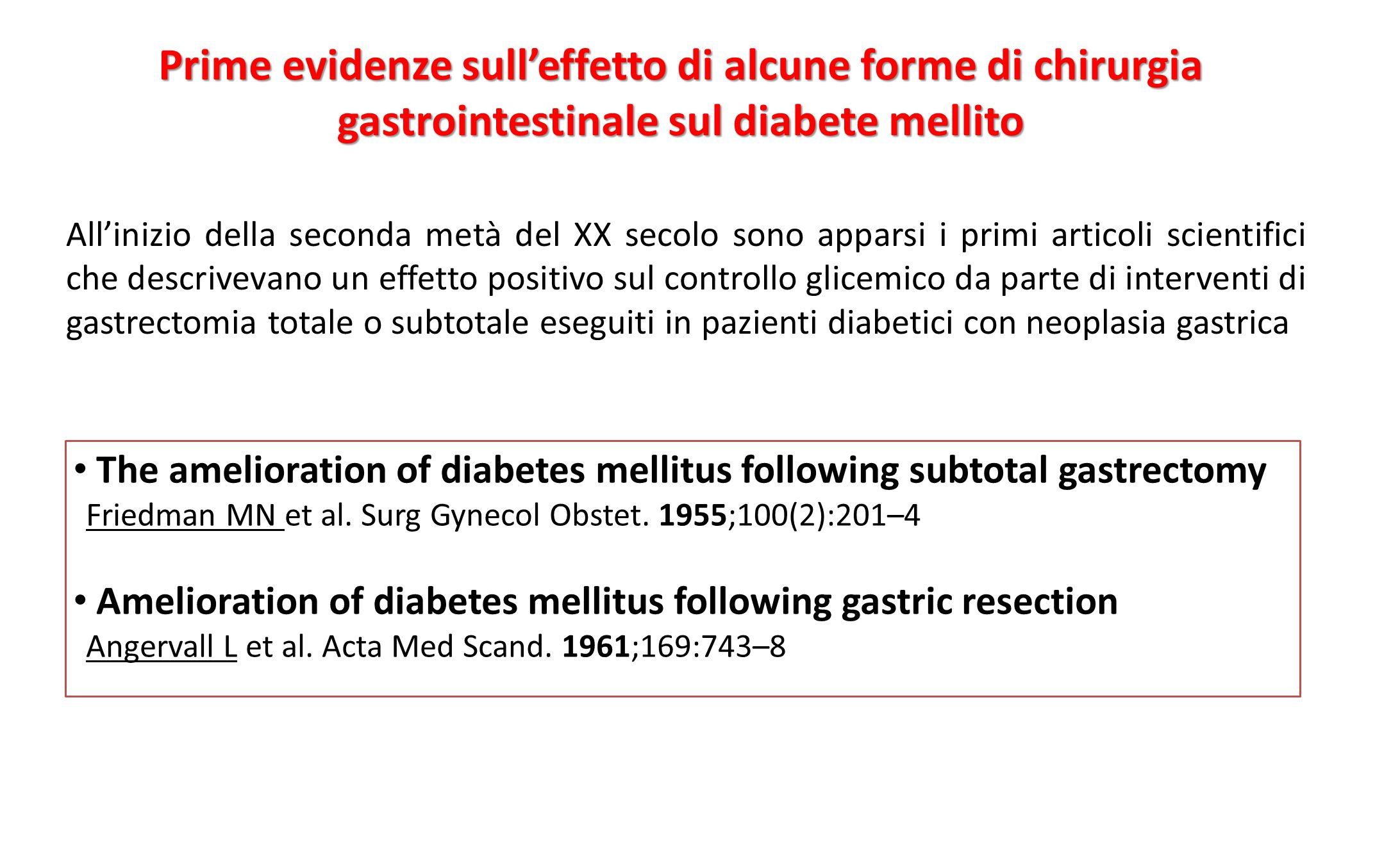 All'inizio della seconda metà del XX secolo sono apparsi i primi articoli scientifici che descrivevano un effetto positivo sul controllo glicemico da
