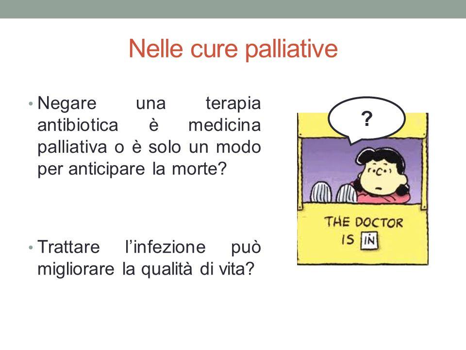 Nelle cure palliative Negare una terapia antibiotica è medicina palliativa o è solo un modo per anticipare la morte.