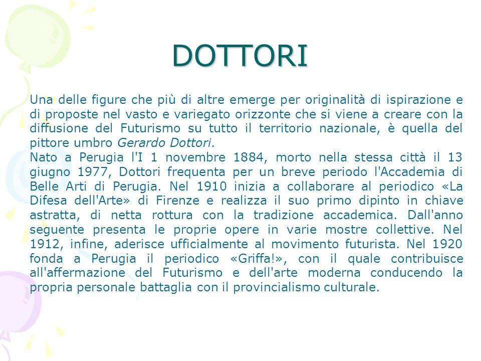 Dal 1926 Dottori si stabilisce a Roma dove rimane fino al 1939.