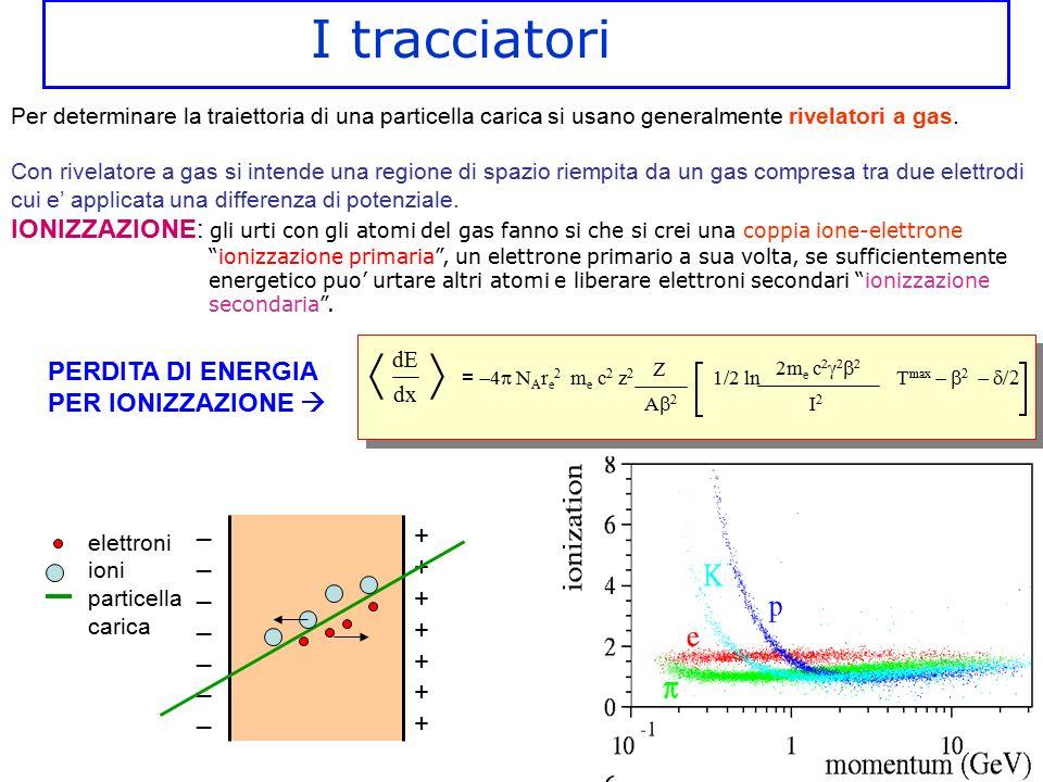 Per determinare la traiettoria di una particella carica si usano generalmente rivelatori a gas. Con rivelatore a gas si intende una regione di spazio