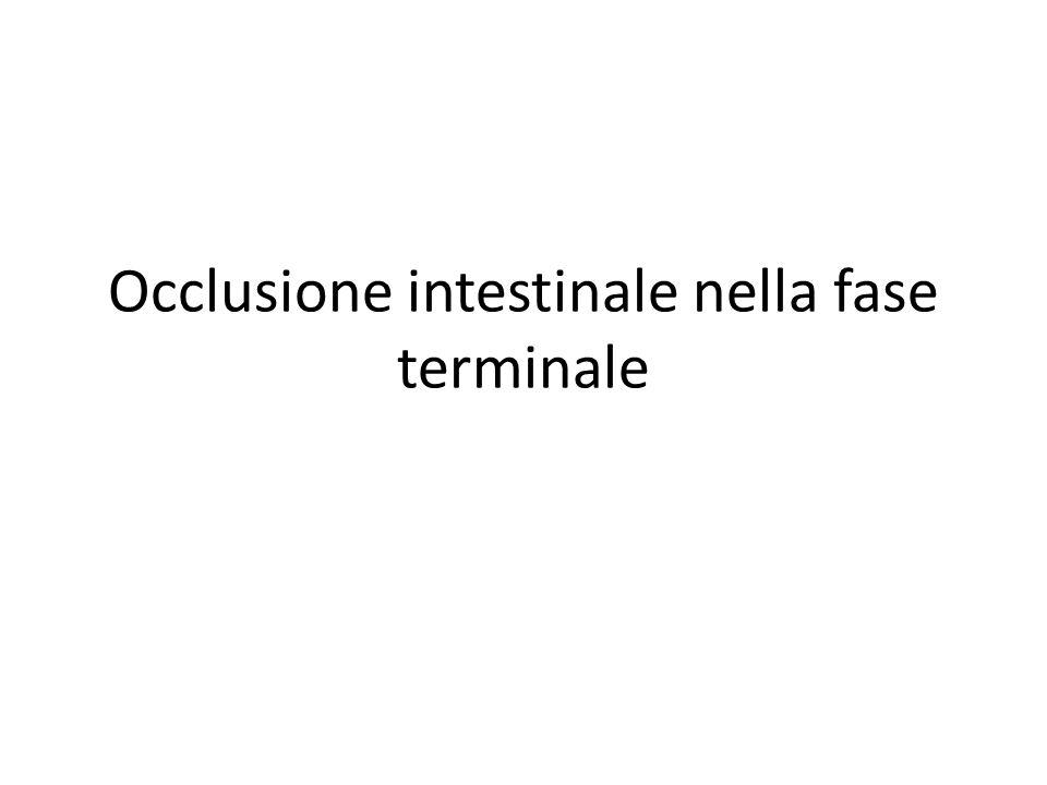 Occlusione intestinale nella fase terminale