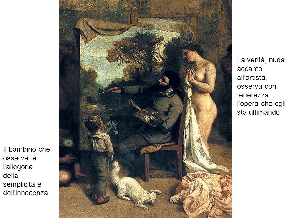 La verità, nuda accanto all'artista, osserva con tenerezza l'opera che egli sta ultimando Il bambino che osserva è l'allegoria della semplicità e dell