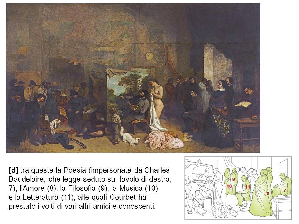[d] tra queste la Poesia (impersonata da Charles Baudelaire, che legge seduto sul tavolo di destra, 7), l'Amore (8), la Filosofia (9), la Musica (10)