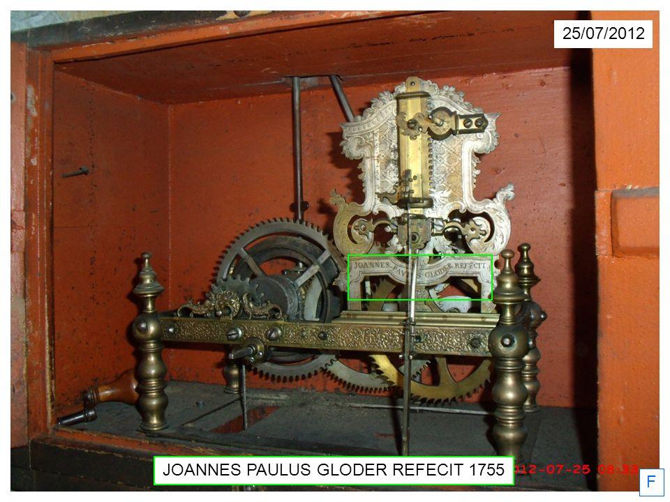 JOANNES PAULUS GLODER REFECIT 1755 F 25/07/2012