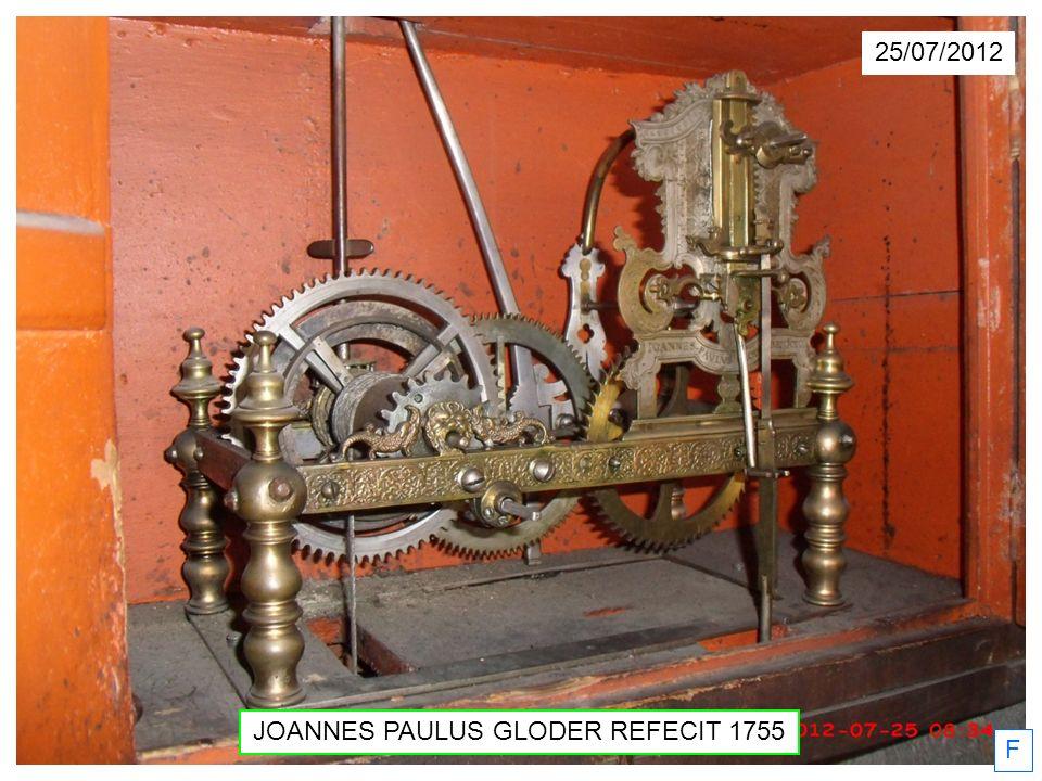 F JOANNES PAULUS GLODER REFECIT 1755 25/07/2012