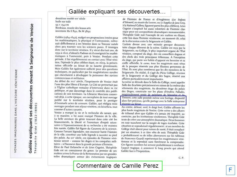 F Commentaire de Camille Perez Galilée expliquant ses découvertes…
