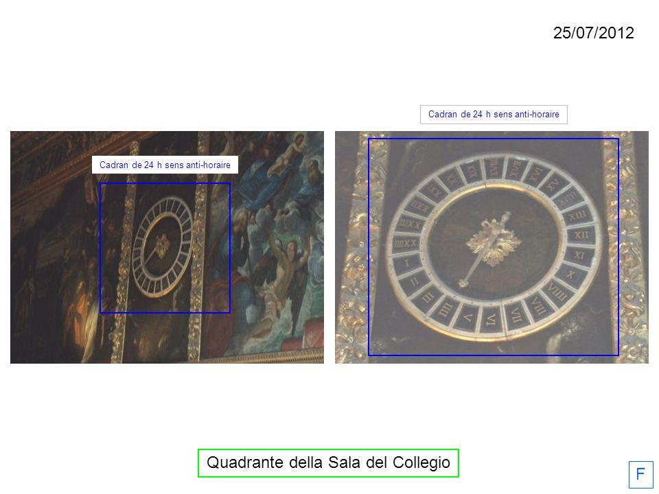 Quadrante della Sala del Collegio F Cadran de 24 h sens anti-horaire 25/07/2012