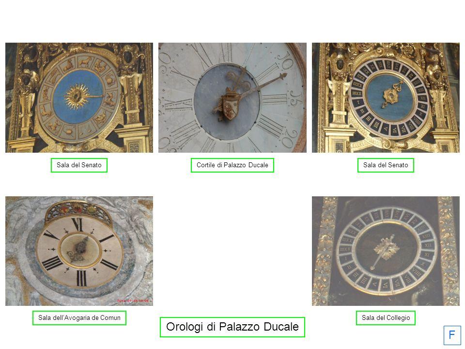 Sala dell'Avogaria de ComunSala del Collegio Sala del Senato Cortile di Palazzo Ducale F Orologi di Palazzo Ducale