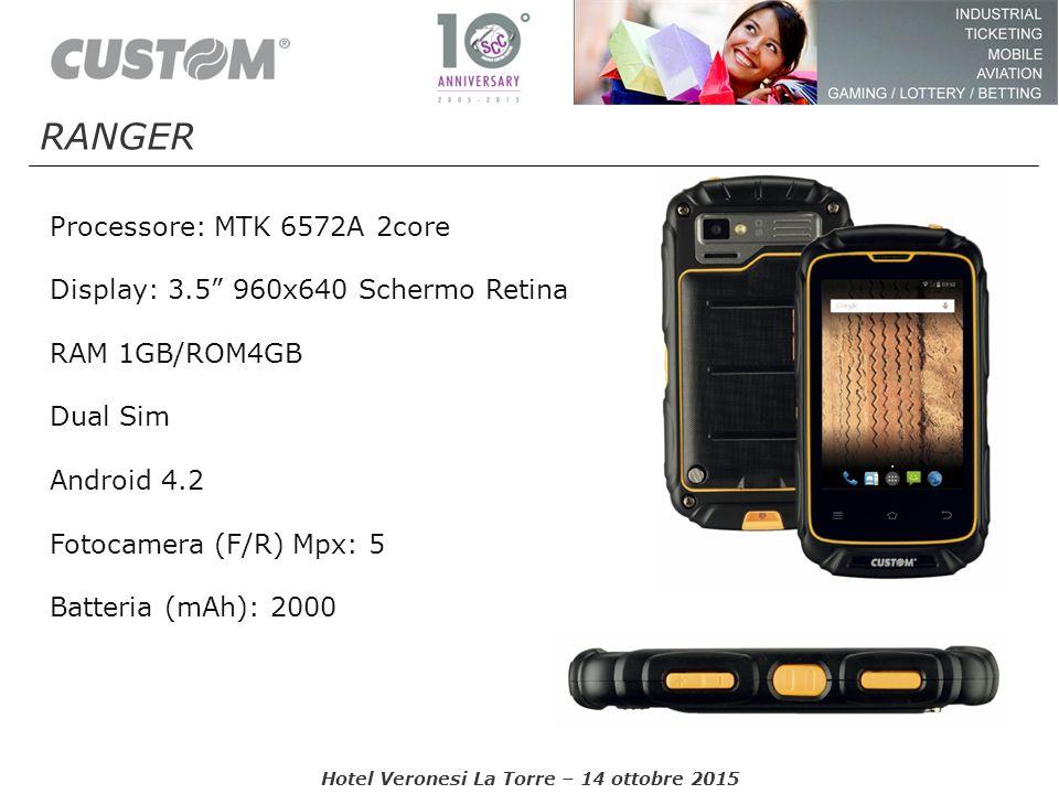 "Processore: MTK 6572A 2core Display: 3.5"" 960x640 Schermo Retina RAM 1GB/ROM4GB Dual Sim Android 4.2 Fotocamera (F/R) Mpx: 5 Batteria (mAh): 2000 Hote"