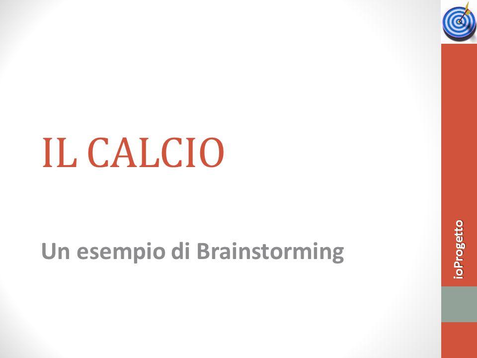 IL CALCIO Un esempio di Brainstorming ioProgetto