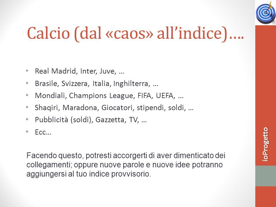 Calcio (dal «caos» all'indice)….