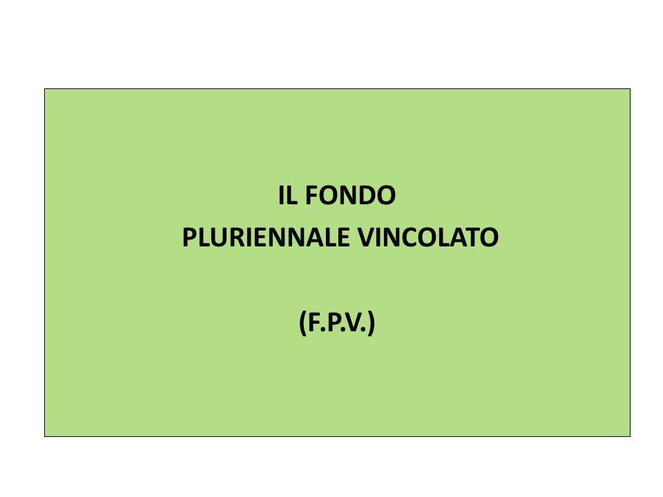 IL FONDO PLURIENNALE VINCOLATO (F.P.V.)