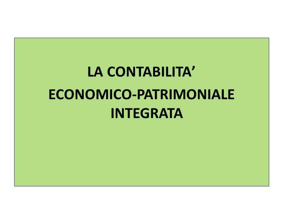 LA CONTABILITA' ECONOMICO-PATRIMONIALE INTEGRATA