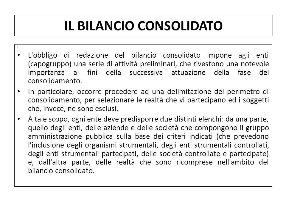 I L obbligo di redazione del bilancio consolidato impone agli enti (capogruppo) una serie di attività preliminari, che rivestono una notevole importanza ai fini della successiva attuazione della fase del consolidamento.