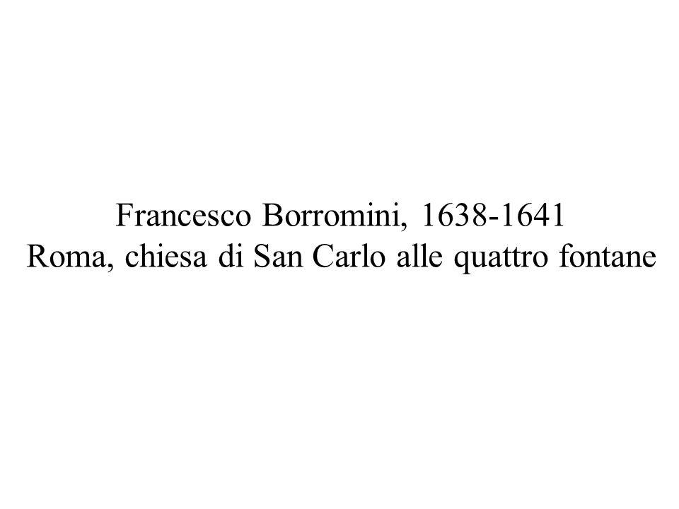 Tra il 1634 e il 1641 Francesco Borromini costruisce per i Padri Trinitari Scalzi spagnoli il «quarto» (o ala del dormitorio), il chiostro ( 1 ) e la chiesa ( 2 )