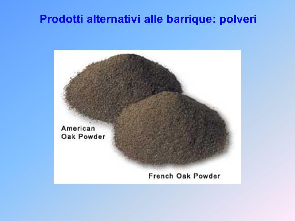 Prodotti alternativi alle barrique: polveri