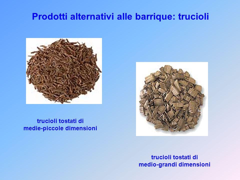 Prodotti alternativi alle barrique: trucioli trucioli tostati di medie-piccole dimensioni trucioli tostati di medio-grandi dimensioni