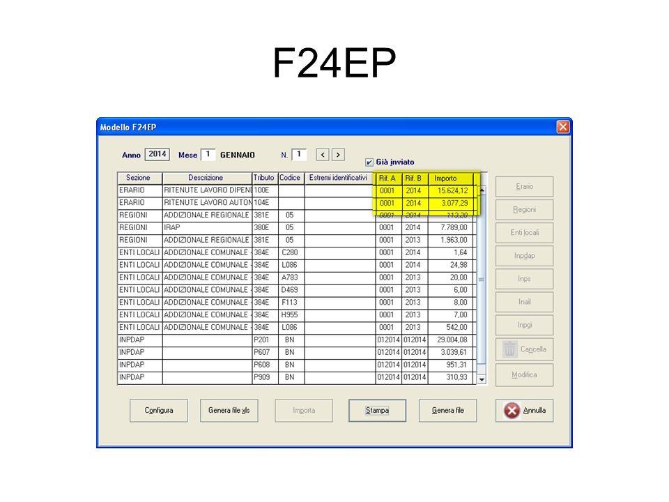 Ugualmente devono corrispondere tra ritenute versate, che sono: La somma degli F24EP compilati nell'anno precedente, opportunamente verificata nel cassetto fiscale dell'Ente il saldo tra irpef ritenuta e irpef rimborsata indicati nei quadri di dettaglio SA, SC etc La colonna dei quadri ST-SV