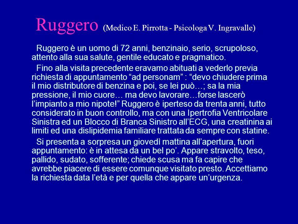 Ruggero (Medico E. Pirrotta - Psicologa V.