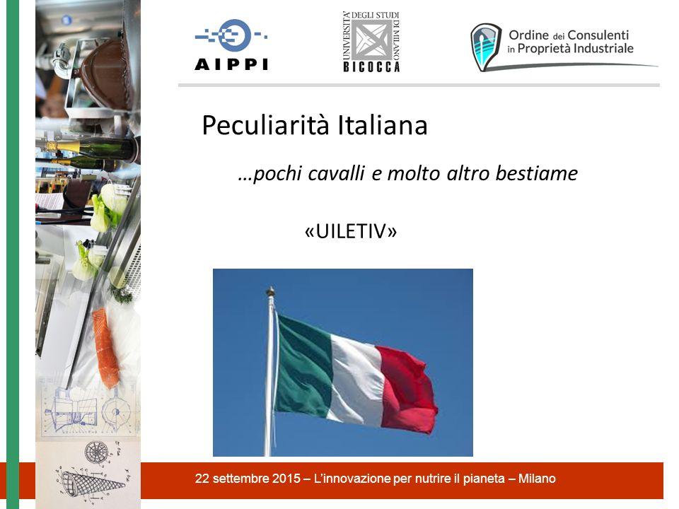 22 settembre 2015 – L'innovazione per nutrire il pianeta – Milano Peculiarità Italiana …pochi cavalli e molto altro bestiame «UILETIV»