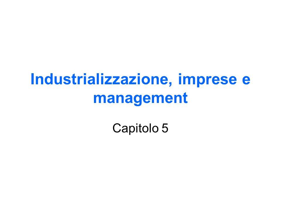 Industrializzazione, imprese e management Capitolo 5