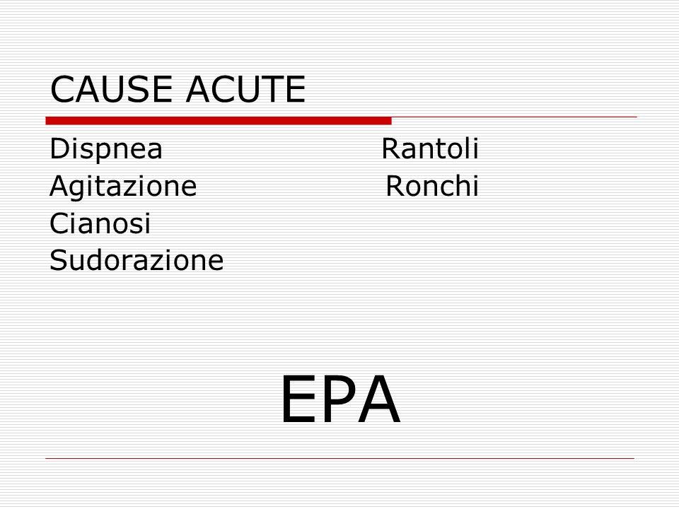 Dispnea Rantoli Agitazione Ronchi Cianosi Sudorazione EPA