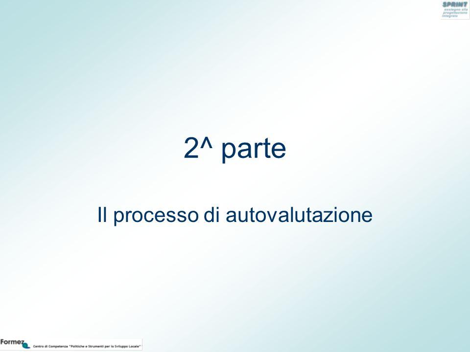 2^ parte Il processo di autovalutazione
