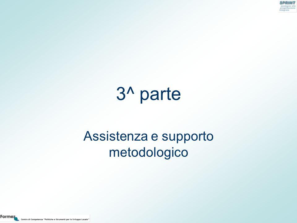 3^ parte Assistenza e supporto metodologico