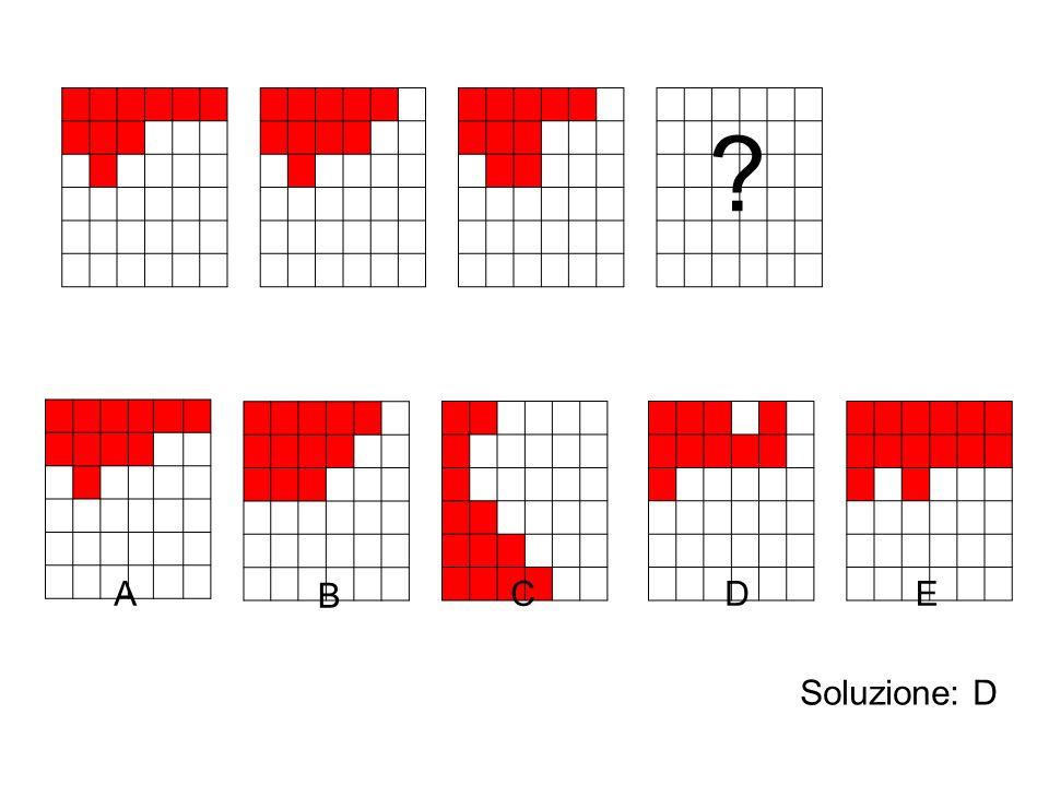 A B C DE Soluzione: D