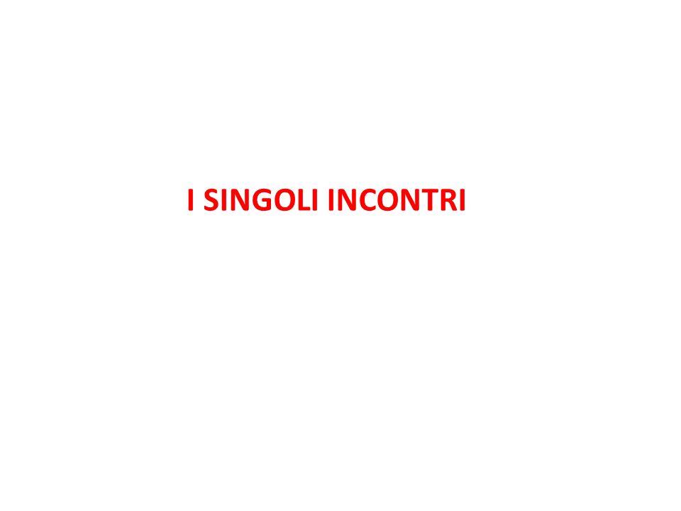 I SINGOLI INCONTRI