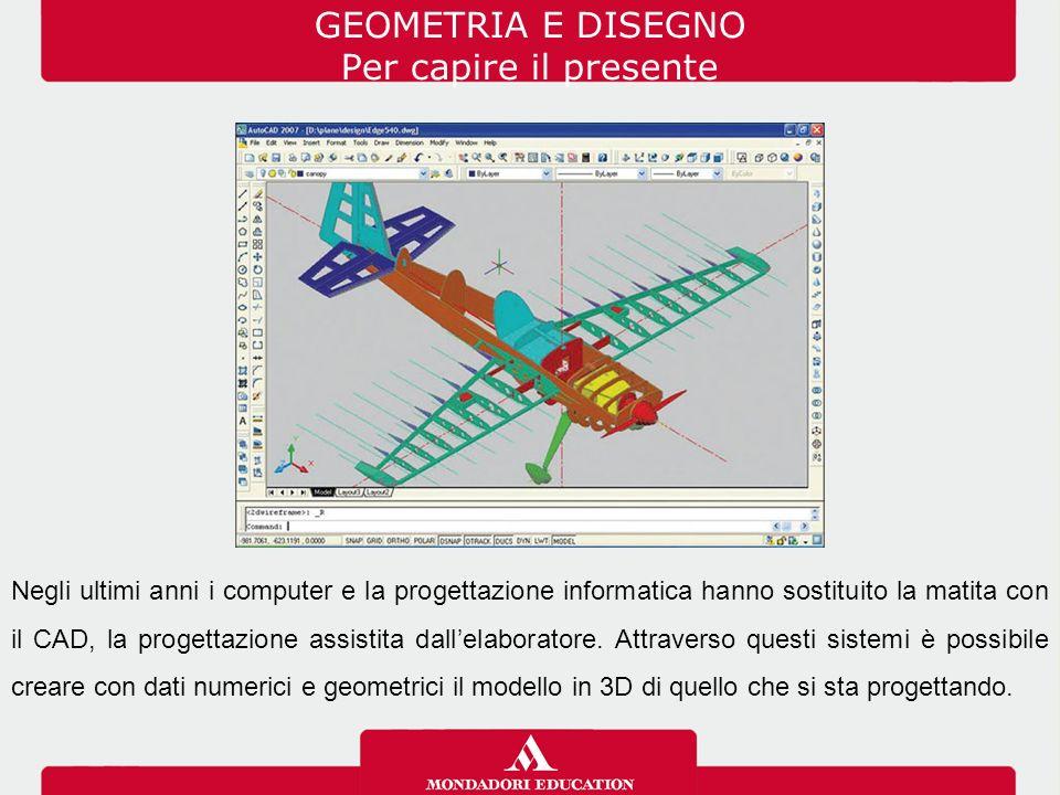 GEOMETRIA E DISEGNO Per capire il presente Negli ultimi anni i computer e la progettazione informatica hanno sostituito la matita con il CAD, la proge