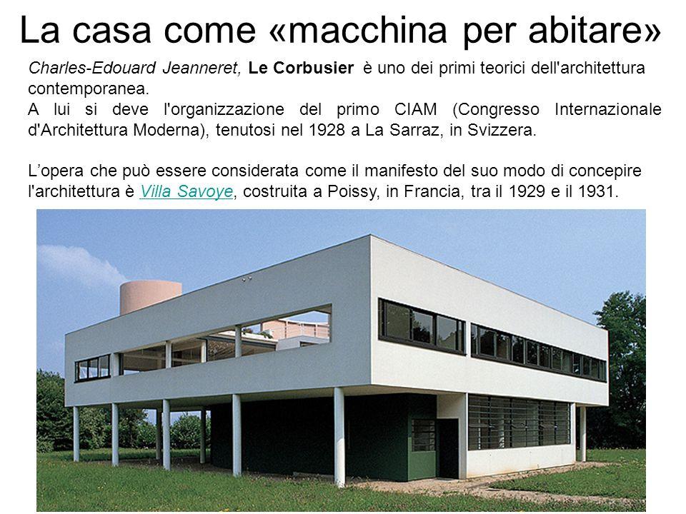 La casa come «macchina per abitare» Charles-Edouard Jeanneret, Le Corbusier è uno dei primi teorici dell'architettura contemporanea. A lui si deve l'o