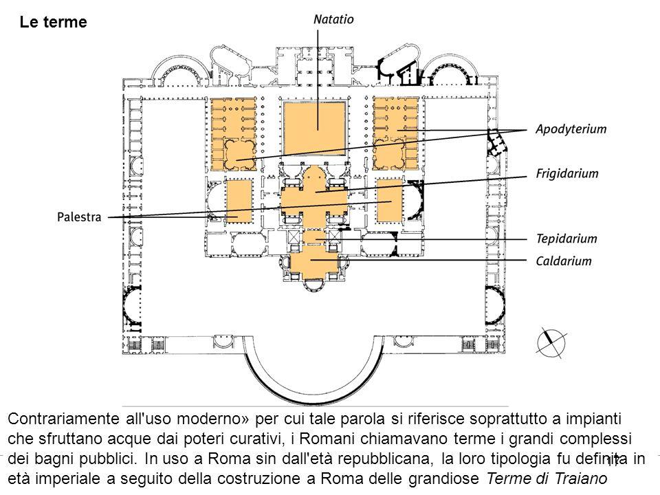 17 Le terme Contrariamente all'uso moderno» per cui tale parola si riferisce soprattutto a impianti che sfruttano acque dai poteri curativi, i Romani