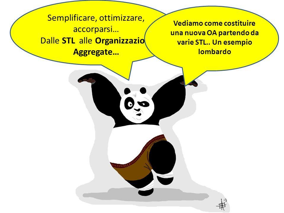 Semplificare, ottimizzare, accorparsi… Dalle STL alle Organizzazioni Aggregate… Vediamo come costituire una nuova OA partendo da varie STL.. Un esempi