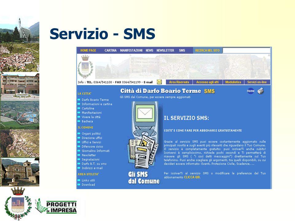 Servizio - SMS