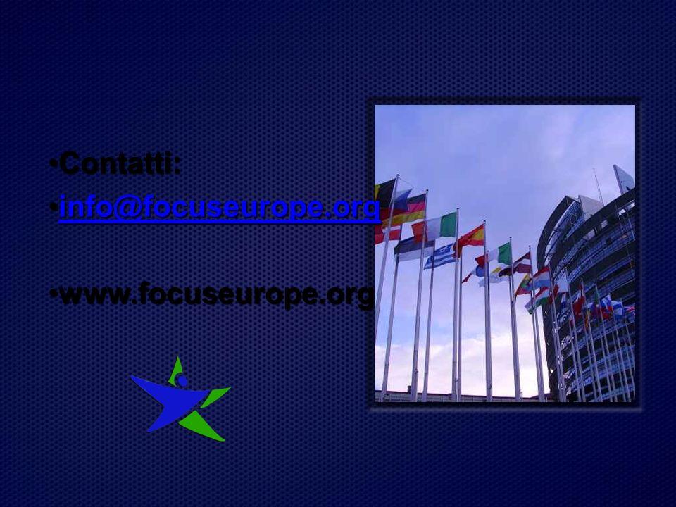 Contatti:Contatti: info@focuseurope.orginfo@focuseurope.orginfo@focuseurope.org www.focuseurope.orgwww.focuseurope.org