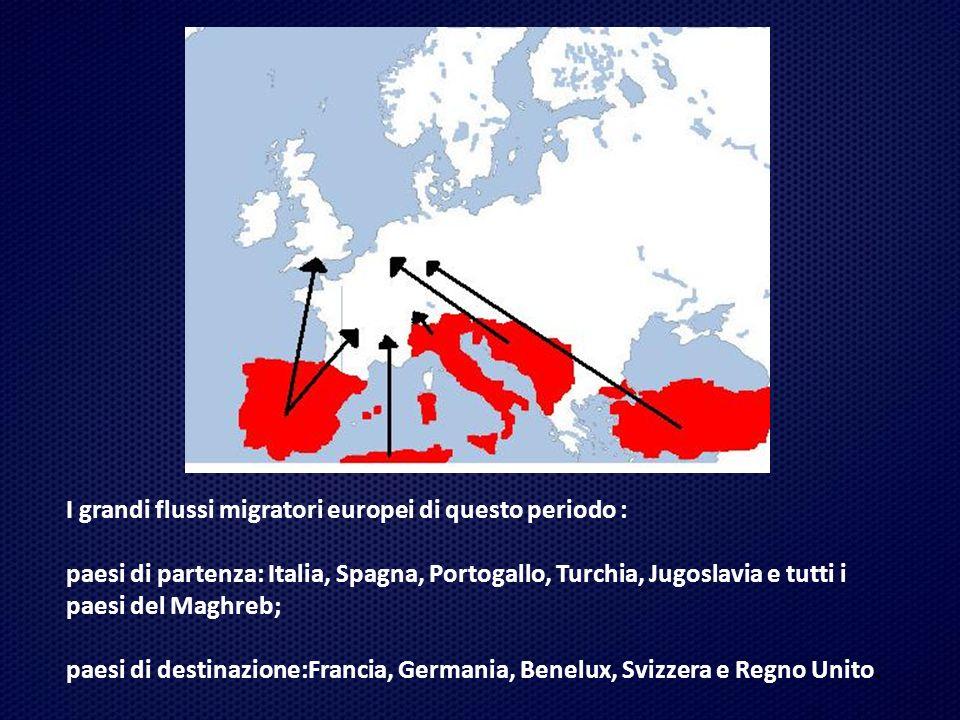 I fenomeni migratori in Europa hanno subito dei cambiamenti fondamentali a partire dalla fine del 1973.