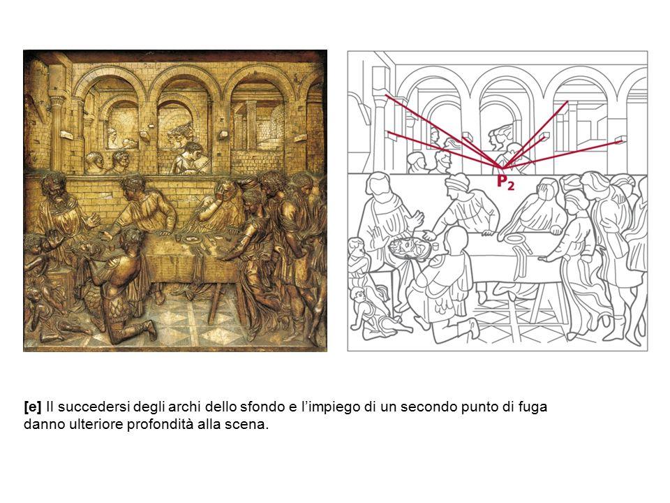[e] Il succedersi degli archi dello sfondo e l'impiego di un secondo punto di fuga danno ulteriore profondità alla scena.