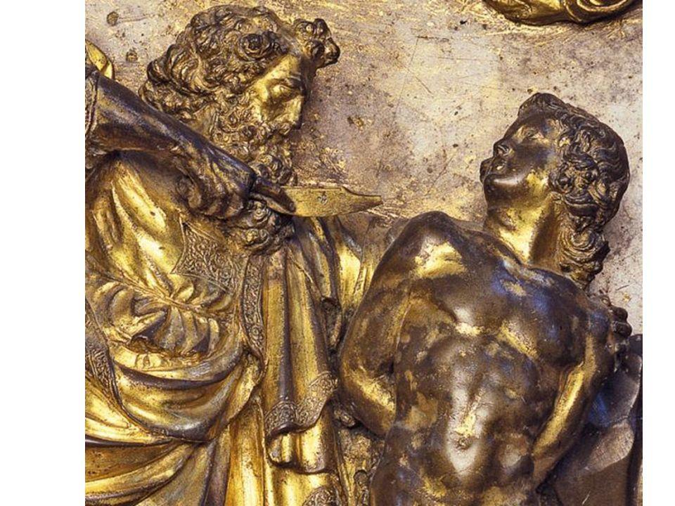 Nel David in bronzo (Museo del Bargello), partendo da uno spunto classico (questa è la prima statua dopo oltre un millennio che raffiguri un nudo virile) Donatello conferisce al suo personaggio un espressione di naturale pensosità in vivace contrasto con l innaturale postura del corpo, attinta dalla statuaria di derivazione policletea.