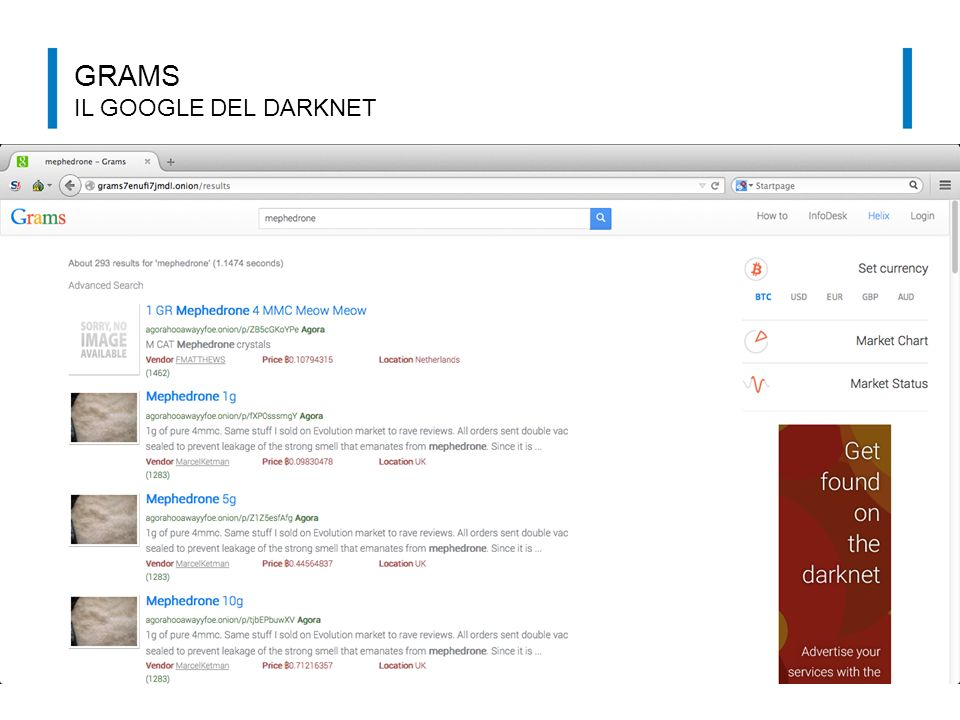 GRAMS IL GOOGLE DEL DARKNET