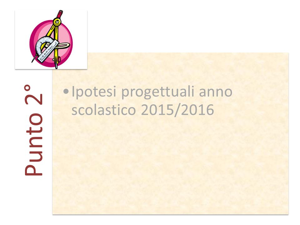 Punto 2° Ipotesi progettuali anno scolastico 2015/2016