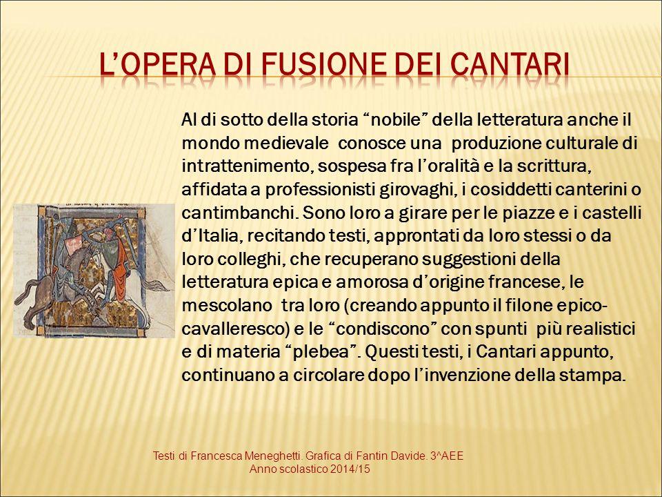"""Al di sotto della storia """"nobile"""" della letteratura anche il mondo medievale conosce una produzione culturale di intrattenimento, sospesa fra l'oralit"""