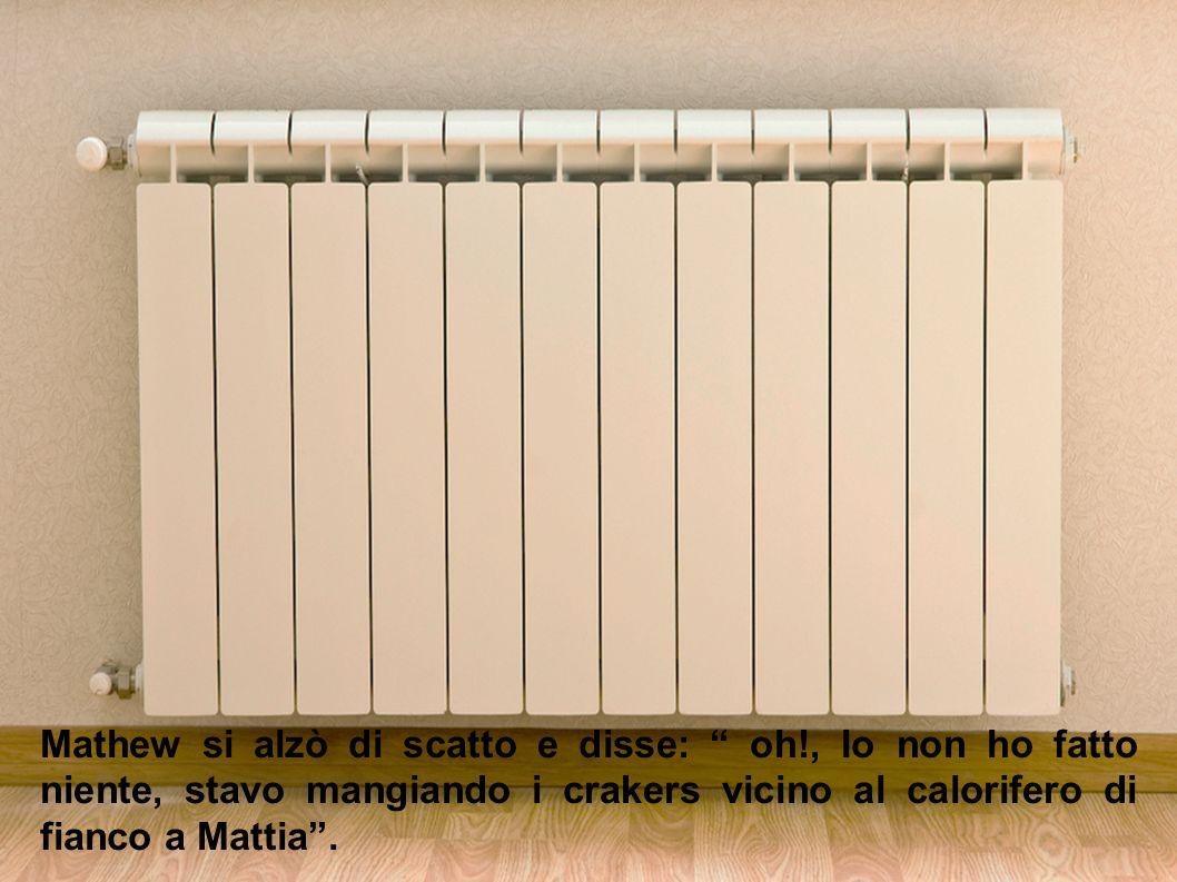 """Gamba: """" nessuno ?, Andrea, secondo te chi è stato ?"""". Andrea: """" secondo me sono stati Collini, Mathew e Brando""""."""