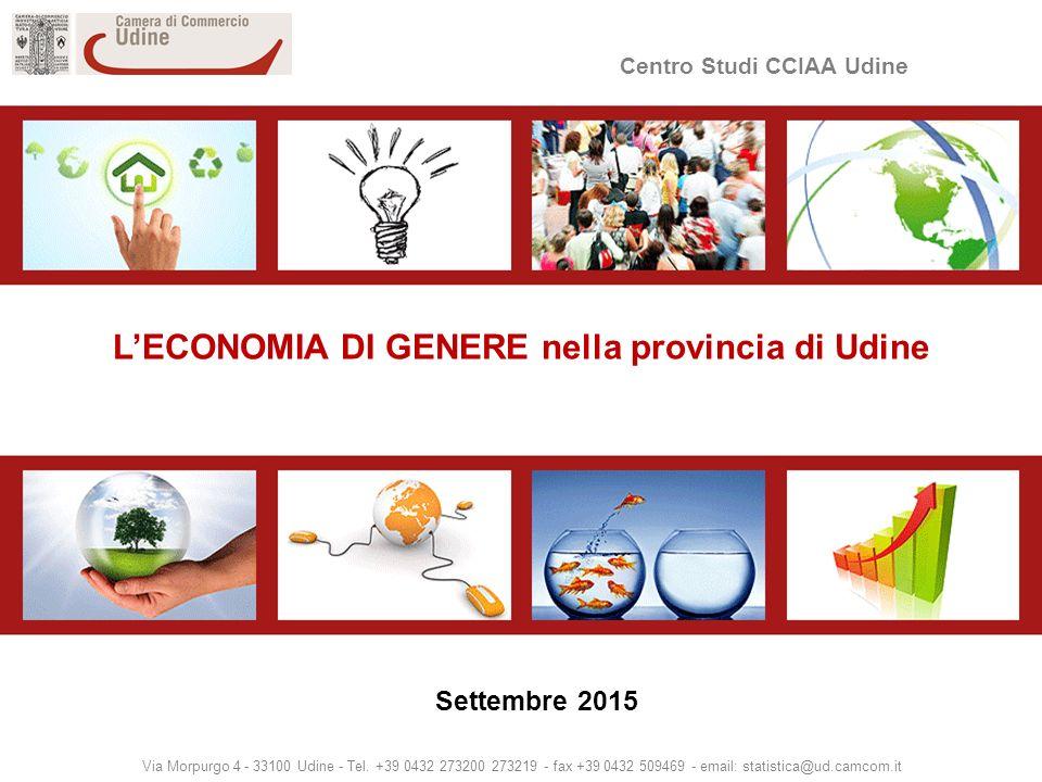 Centro Studi CCIAA Udine Via Morpurgo 4 - 33100 Udine - Tel.