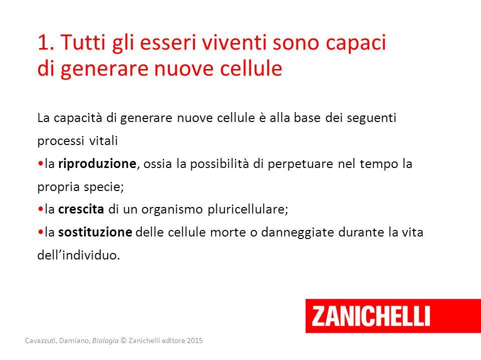 Lezione 2 La meiosi e la riproduzione sessuata Cavazzuti, Damiano, Biologia © Zanichelli editore 2015