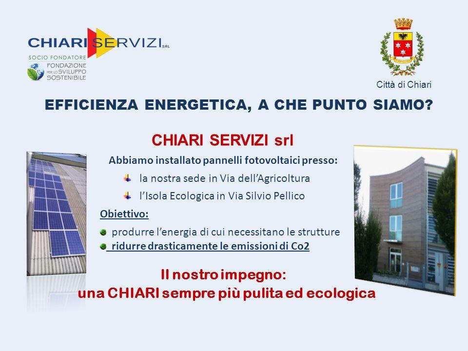 Perché puntiamo su tema dell'efficienza energetica L'Italia ha fortemente bisogno di puntare su questo settore a causa della sua dipendenza verso le importazioni di gas e petrolio.