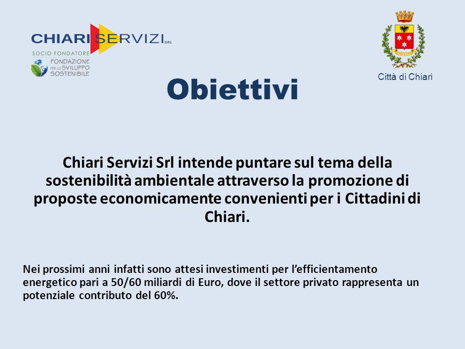 Obiettivi Chiari Servizi Srl intende puntare sul tema della sostenibilità ambientale attraverso la promozione di proposte economicamente convenienti per i Cittadini di Chiari.